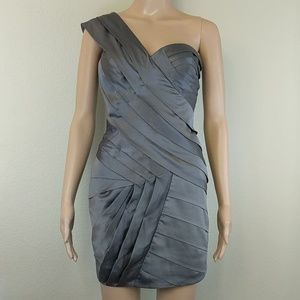 [Lipsy London] Satin Pleated One Shoulder Dress 2